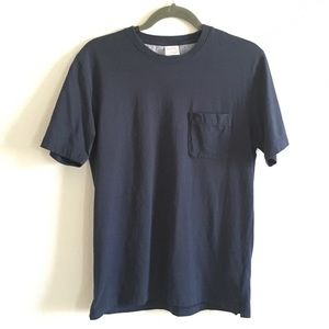 Brooks Brothers | Mens pocket T shirt navy medium